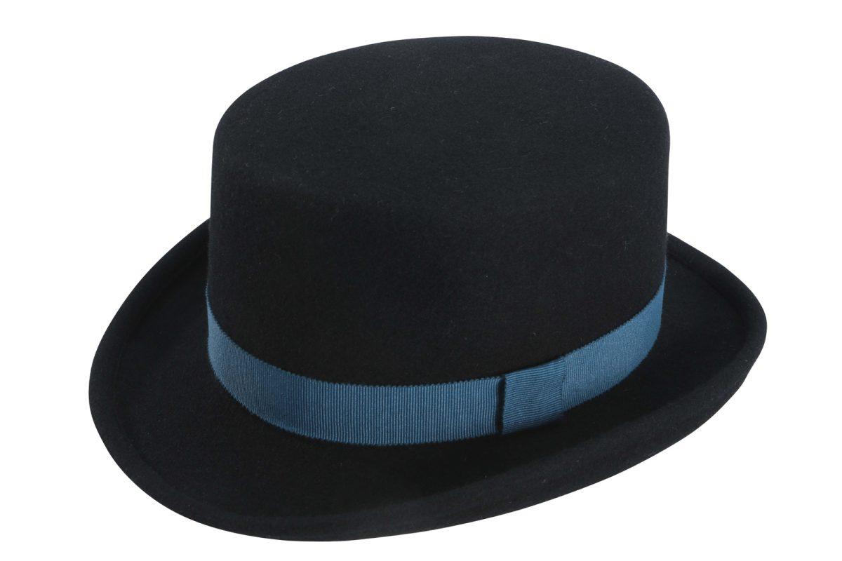 Feine Hüte Berlin Zylinder Wollfilz Django Schwarz