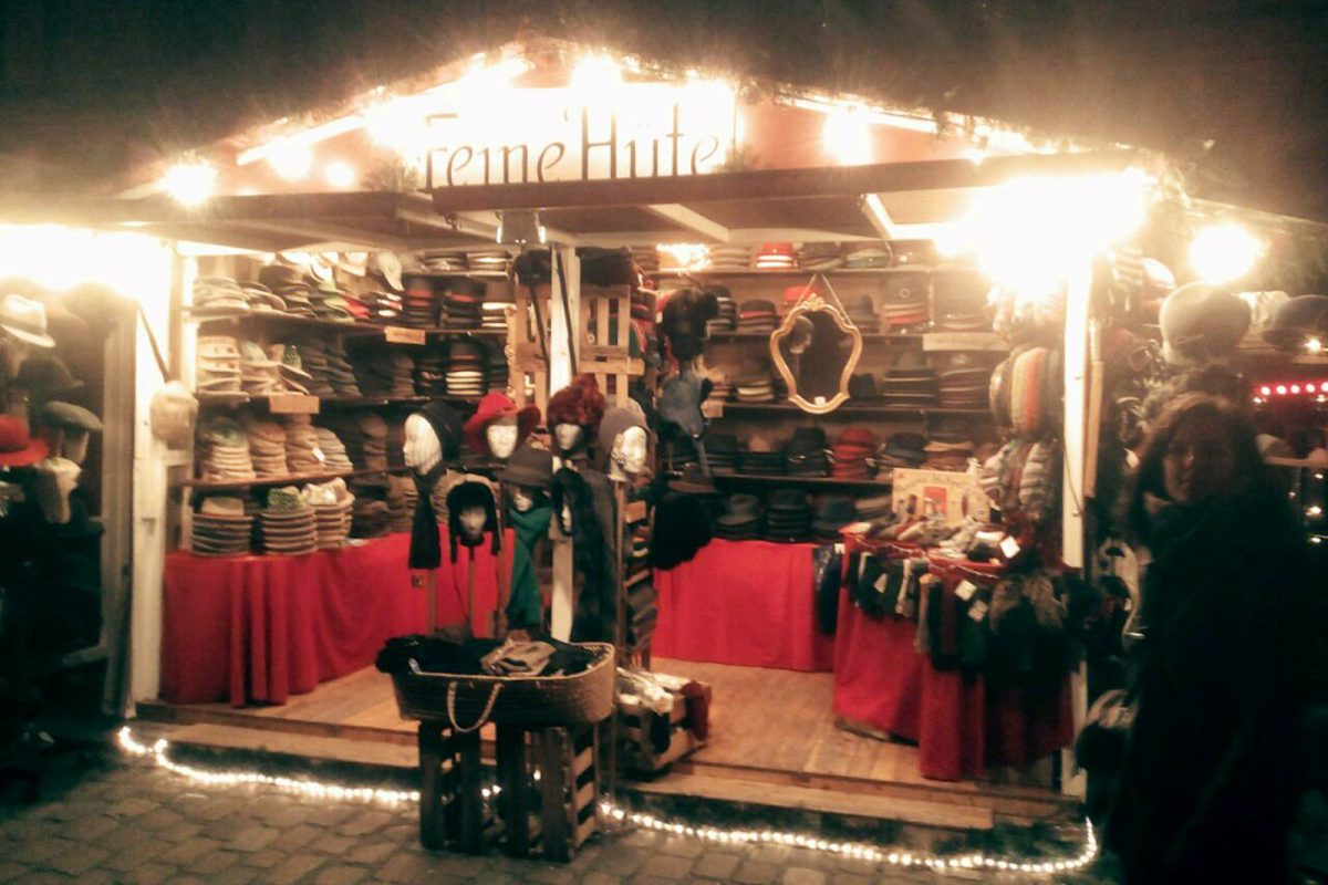 Panama Hutgalerie – Feine Hüte Berlin – Weihnachtsmarkt Kulturbrauerei