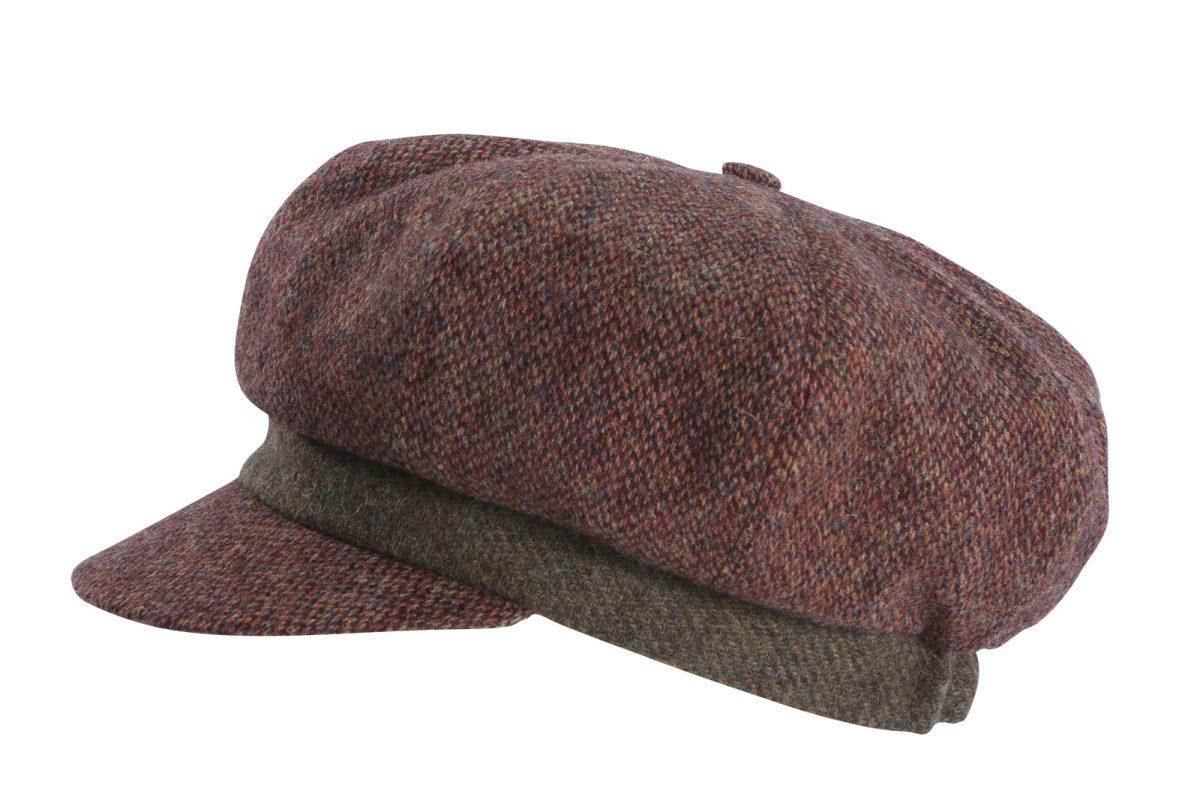 Feine Hüte Berlin – Ballonmütze Wolle Ornella – Braun-Rot