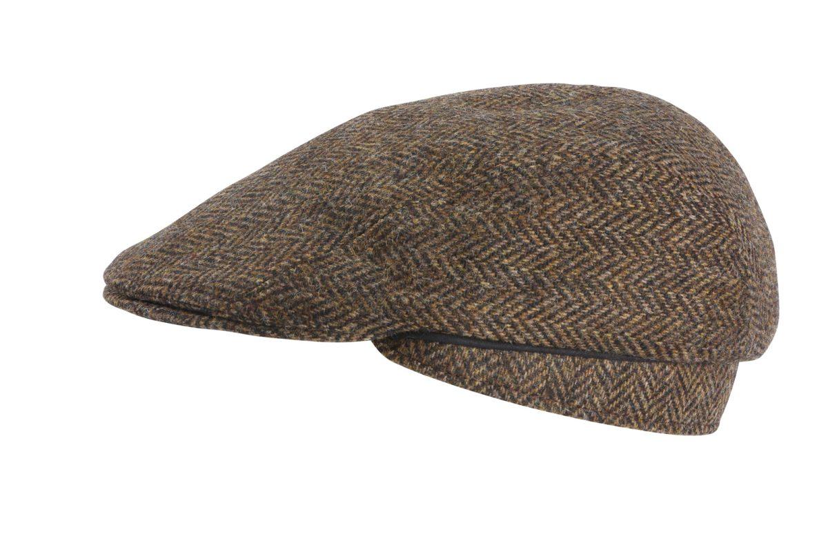 Feine Hüte Berlin – Dunkelbraun Fischgrät – Flatcap Wolle