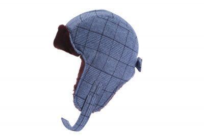 Feine Hüte Berlin – Pilotencap Wolle – Pilot Cap Blaukariert