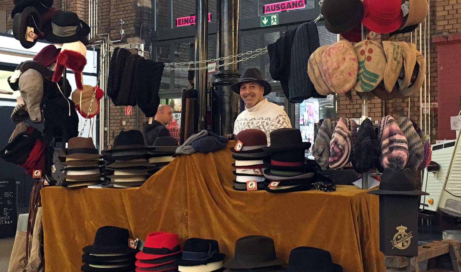 Feine Hüte Berlin Weihnachtsmarkt Merry Markthalle 9